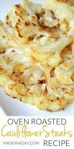 Oven Roasted Cauliflower Steaks 1