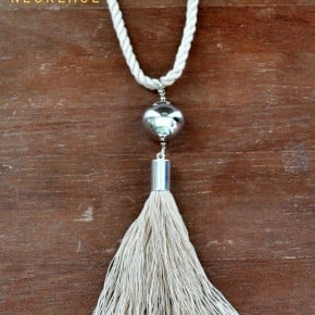 Silver Rope Tassel Necklace