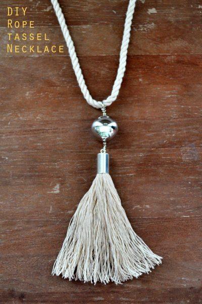 DIY Rope Tassel Necklace