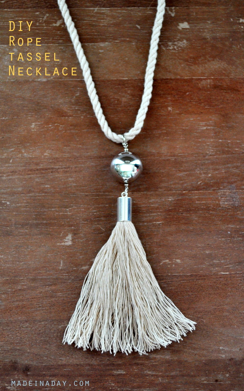 DIY Rope Tassel Necklace