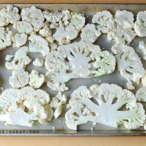 Sliced Cauliflower Steaks