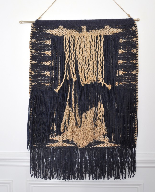 Trim fringe on tapestry