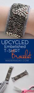 Upcycled Embellished T-Shirt Bracelet 1
