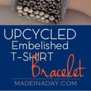 Upcycled Embellished T-Shirt Bracelet 31