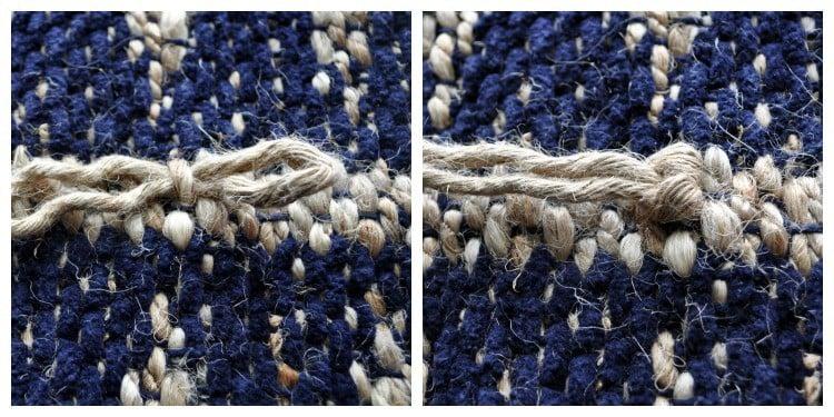 jute lark heads knot