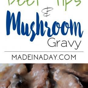 Beef Tips Mushroom Gravy & Rice 1