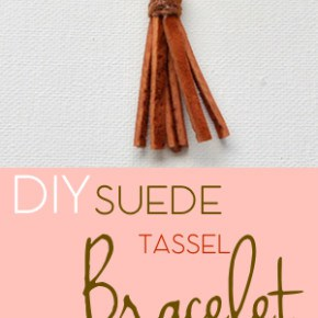 Suede Tassel Bracelet 1