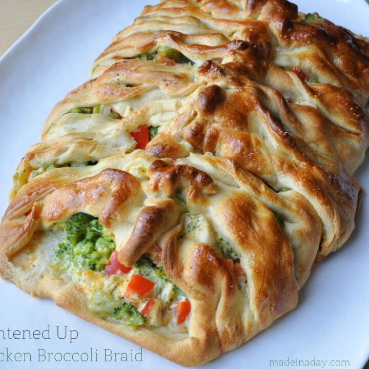 Lightened Up Chicken Broccoli Braid