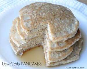 Low Carb Pancakes madeinaday.com