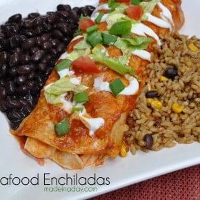 Seafood Enchilada with Imitation Crab Madeinaday.com