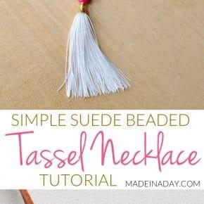 Suede Tassel Necklace 1
