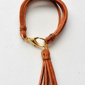 Suede Tassel Bracelet Tutorial