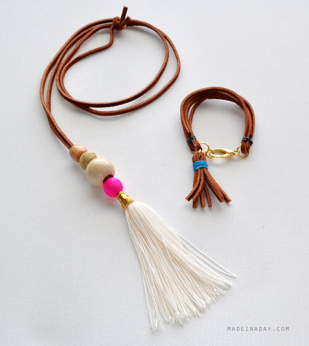 DIY Suede Tassel Bracelet | Super Cool DIY Christmas Gifts For Teens