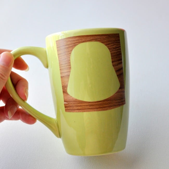 Add stencil to mug