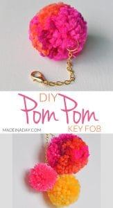 DIY Pom Pom Keychain Bag Charm 1