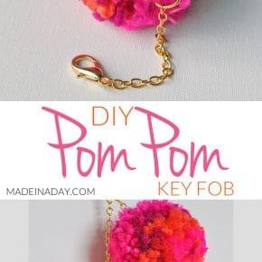 DIY Pom Pom Keychain Bag Charm 29