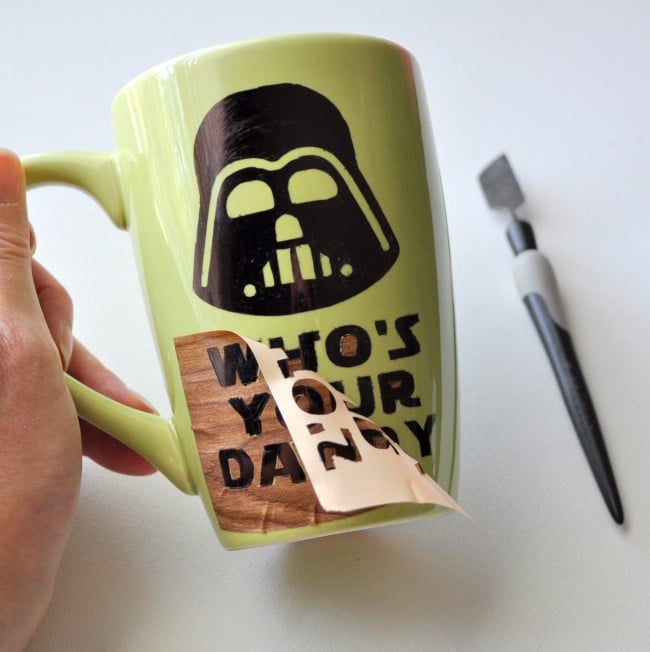 DIY Sharpie Mug Darth Vader