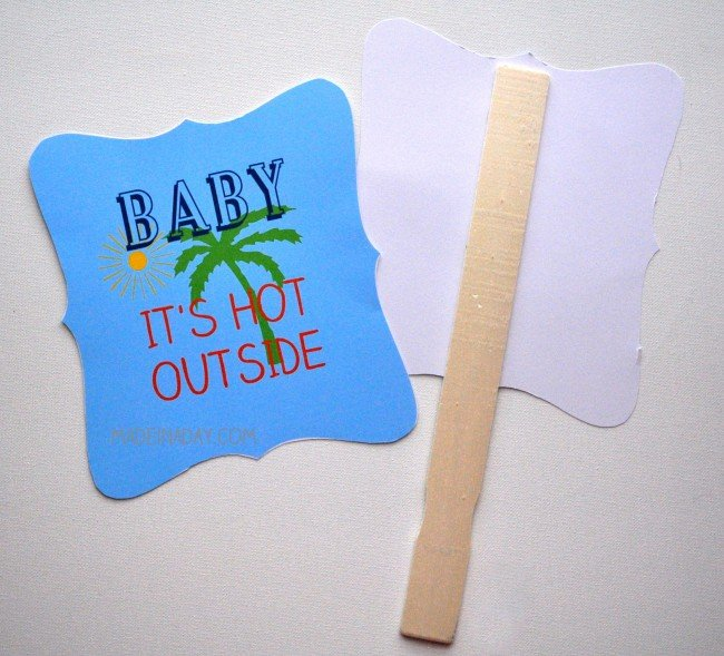 DIY Summer Hand Fan