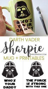 How to Make a Darth Vader Sharpie Mug & Free Printables 1