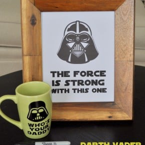 Darth Vader Sharpie Mug & Free Printables madeinaday.com