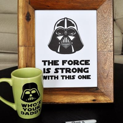 How to Make a Darth Vader Sharpie Mug & Free Printables