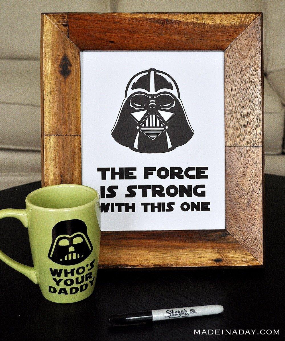 How to Make a Darth Vader Sharpie Mug & Free Printables