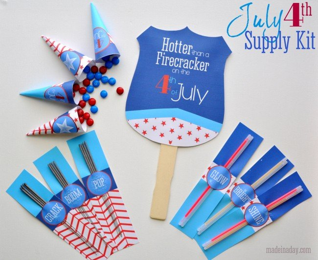 Free Printable 4th of July Supply Kit madeinaday.com