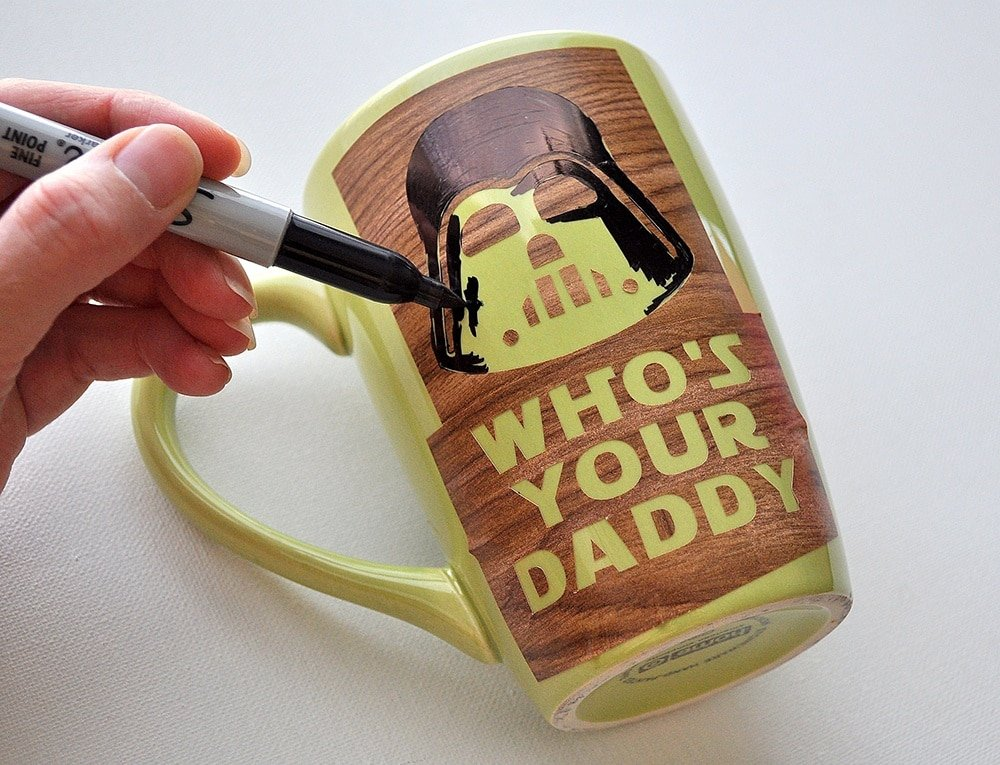 Sharpie mug Darth Vader Who's Your Daddy