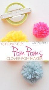 Pom Poms Made Easy: Clover Pom Pom Maker Tutorial 1