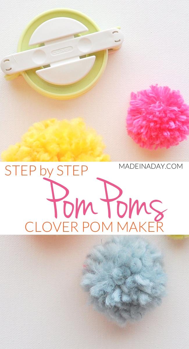 Pom Poms Made Easy: Clover Pom Pom Maker Tutorial 11