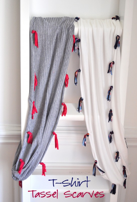 Jersey Knit Tassel Scarf madeinaday.com