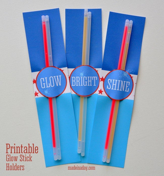 Printable Glow Stick Holders madeinaday.com