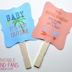 Summer Fun Printable Hand Fans madeinaday.com