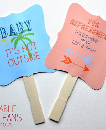 Summer Printable Hand Fan 36