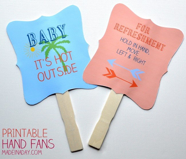 Summer Fun Printable Hand Fans, how to make a fan, paper fan