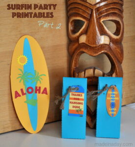 Surfin Party Printables #2 madeinaday.com