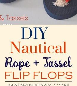 DIY Rope Tassel Flip Flops 31