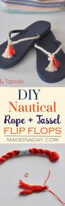 DIY Rope Tassel Flip Flops 1