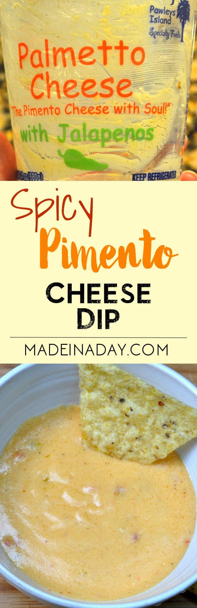 Super Easy Man Cave Tested #Spicy #Pimento #Cheese Dip, come get my husbands' favorite dip recipe! Football favorite dip! pimento cheese appetizer,