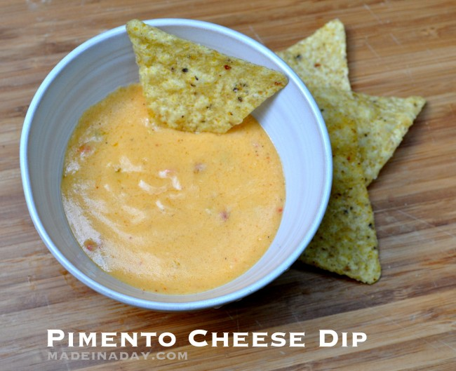 Spicy Pimento Cheese Dip madeinaday.com