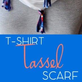 DIY Jersey Knit Tassel Scarf 6