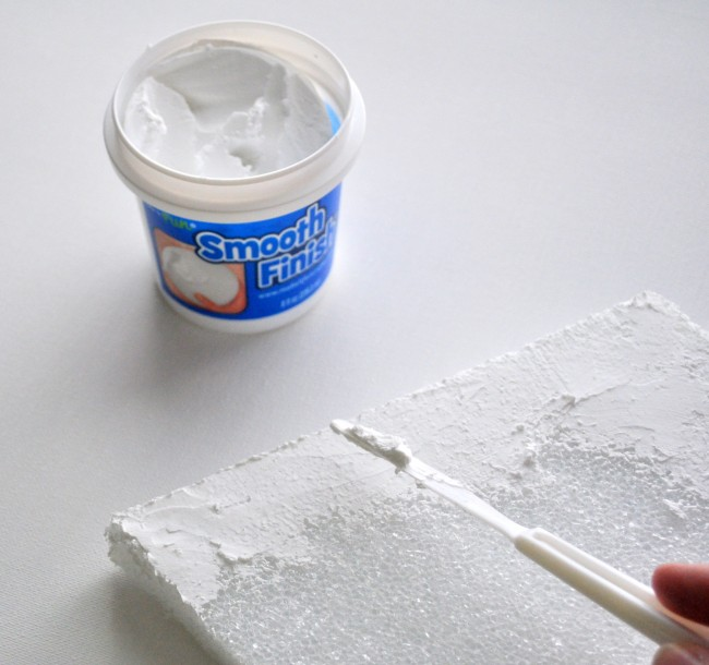 Apply Smooth Finish to foam