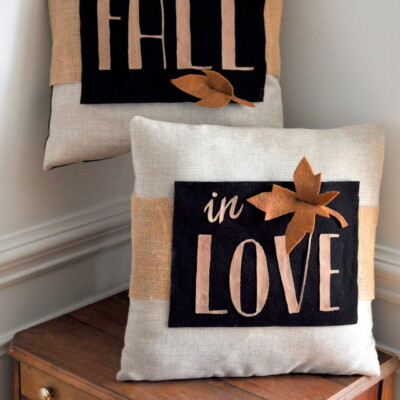 DIY Fall Decor Pillow Wrap
