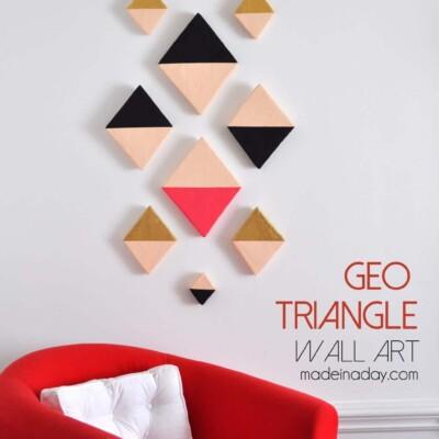 Modern Triangle Geo Wall Art