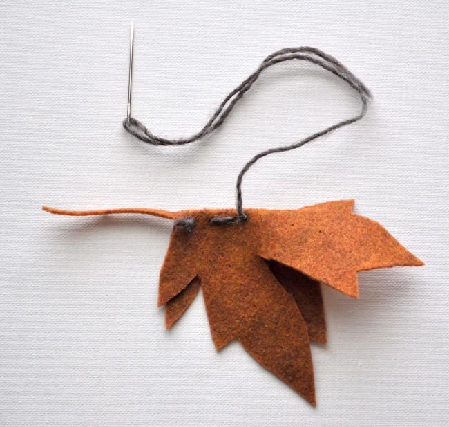 Make a 3D Felt Leaf madeinaday.com