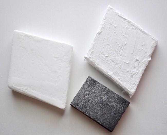 Sand foam to make it smooth DIY Wall Art
