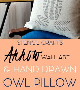 Hand Drawn Owl Pillow Arrow Wall Art 29