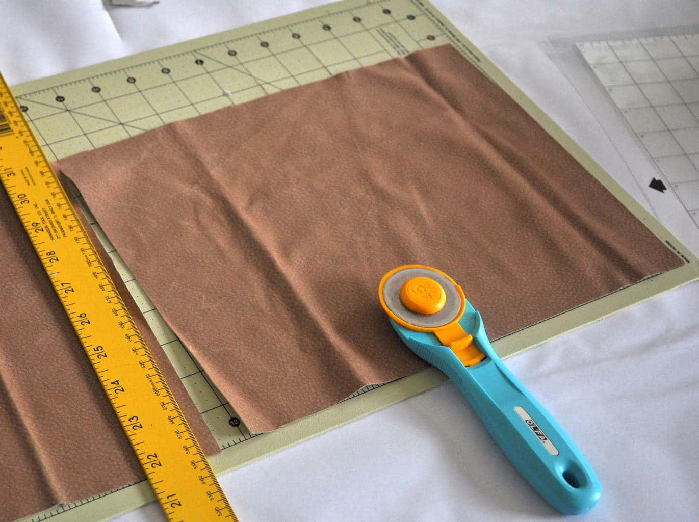 Trim fabric before cutting with silhouette madeinaday.com