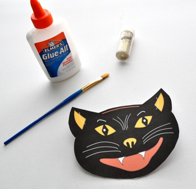 Add Glitter to Vintage Cat FREE Printable madeinaday.com