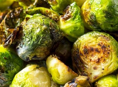 Oven Roasted Balsamic Brussels Sprouts